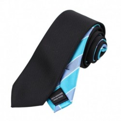EAEF.02 Modern  Microfiber Mens Slim Tie Italian Online Double Sided Skinny Tie By Epoint
