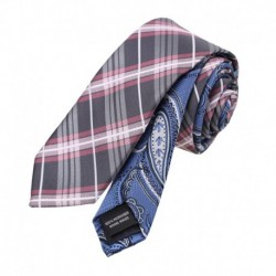 EAEF.03 Mens Microfiber Slim Ties Possibly Style Double Sided Skinny Tie By Epoint