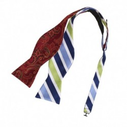 EBAF.01 Multicolored Bow Ties Microfiber Self-tied Double Sided Bow Tie By Epoint