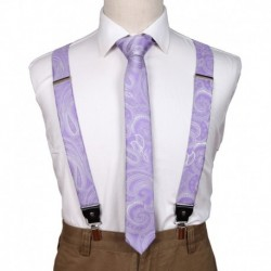 EFDB.01 Perfect Paisley Microfiber For Boyfriends Suspender Skinny Tie Set By Epoint