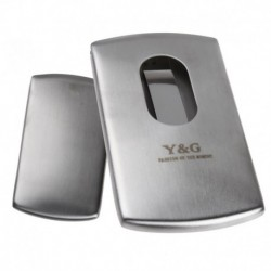 YDA01B Mens Business Card Case Design Stainless Steel  Card Holder With Box By Y&G