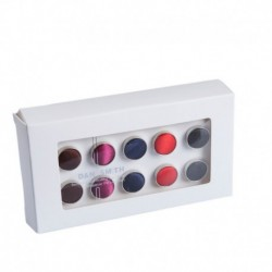 DHDE.01 Accessories Poly 5 Pairs of Cufflinks - 5 Colors Available By Dan Smith