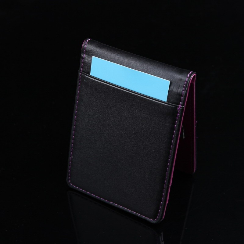 designer money clip wallet p4qc  YCM13A01 Red Black Mens Synthetic Leather Wallet Husband Presents with  Stainless Steel Money Clip Birthday Presents