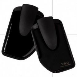 YOM01 Men's Black Double-side Wallet Money Clip & Credit Card Holder By Y&G