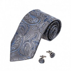 YA-BC-B.01 Wedding Party Paisley Jacquard Silk Ties For Marriage By Y&G