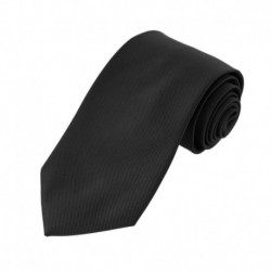 EAGE Black Solid Microfiber Mens Tie Best For Travel Extra Long Tie By Epoint