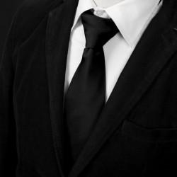 EAAE Black Solid Microfiber Male Ties Luxury Design Neck Tie By Epoint