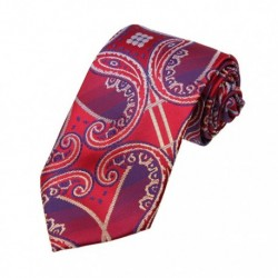 DAA7B.05 Gift Patterned Microfiber Tie For Boyfriend Neckwear By Dan Smith