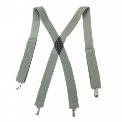 YFB01 Mens Multicoloured Suspenders Clip-end Brace X-back By Y&G