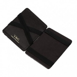 YCM02 Black Leather Magic Wallet with Card Holders Online Shopping For Business With Gift Box By Y&G