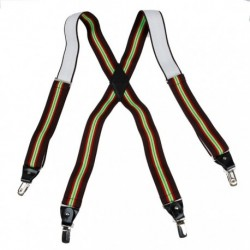 YFA0102 Mens X-Back Clip Suspenderss Clip on In Various Colours By Y&G
