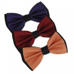 DBE3F Multicoloured Urban Microfiber Pre-Tied Bowties 3 Package Set By Dan Smith