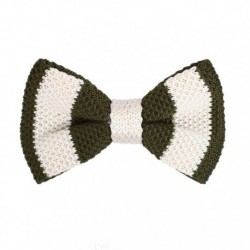 DBG3A01 Multi-colored Stripes Microfiber Pre-tied Bow Tie for Party By Dan Smith