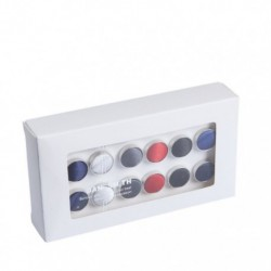 DHEE.01 Formal Wear Gift Polyester Cufflinks - 6 Colors of 6 Pairs Available By Dan Smith