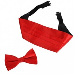 DIC1E01 Multicolored Solid Microfiber Best Cummerbund Bow Tie Set By Dan Smith